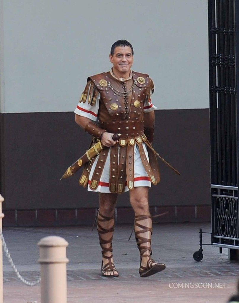 George Clooney as Julius Caesar the roman emperor