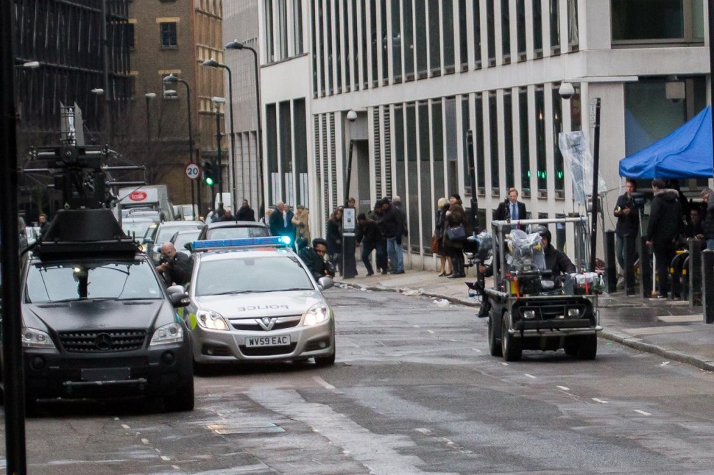 'London Has Fallen' stunt scenes filming in East London