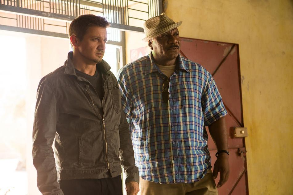 Left to right: Jeremy Renner plays William Brandt and Ving Rhames plays Luther Stickell in Mission: Impossible - Rogue Nation from Paramount Pictures and Skydance Productions.