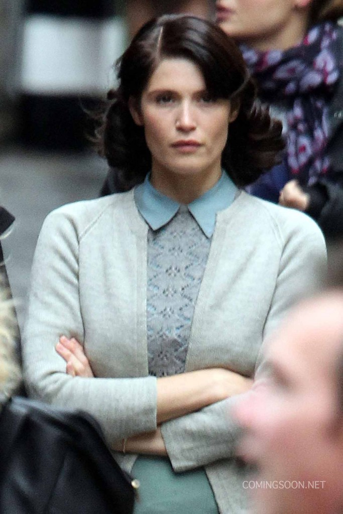 Gemma Arterton Films Scenes For Their Finest Hour And A Half In London