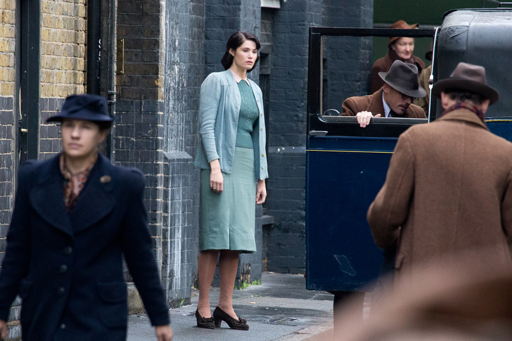 Gemma Arterton filming her new movie 'Their Finest Hour and a Half