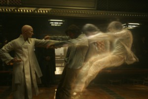 L to R: The Ancient One (Tilda Swinton) and Doctor Stephen Strange (Benedict Cumberbatch) Photo Credit: Film Frame  ©2016 Marvel. All Rights Reserved.