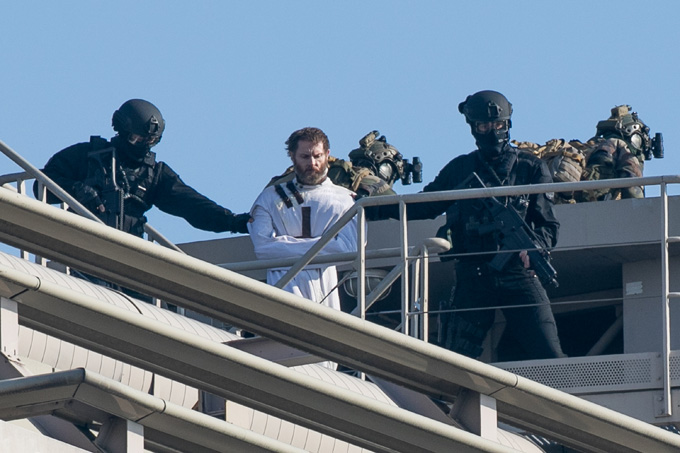 PARIS, FRANCE - APRIL 08:  A general view at 'Mission Impossible 6: Gemini' shooting  on April 8, 2017 in Paris, France.  (Photo by Marc Piasecki/GC Images)