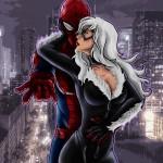 spiderman black cat - 822×971